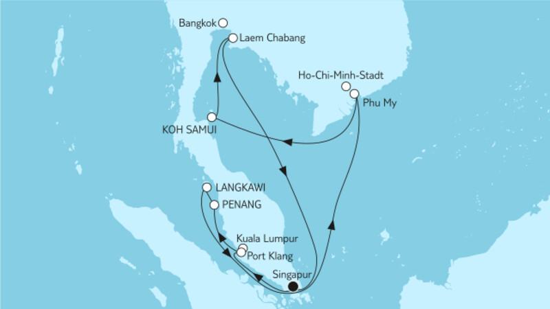Hongkong bis Singapur I