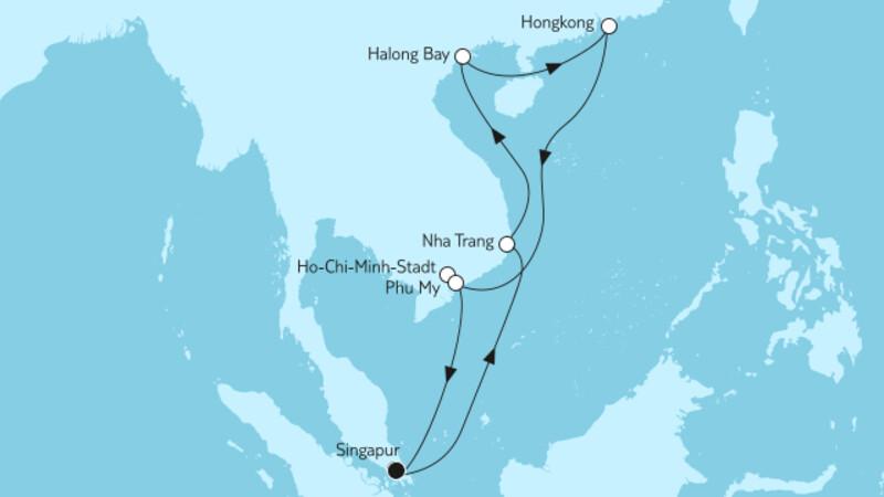 Vietnam mit Hongkong
