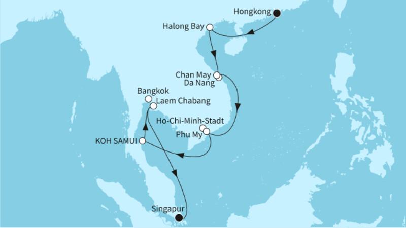 Hongkong bis Singapur