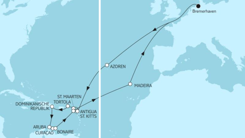 Karibische Inseln ab Bremerhaven 1