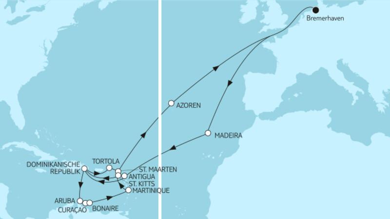 Karibische Inseln ab Bremerhaven 2