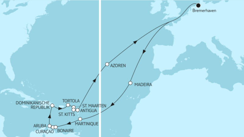 Karibische Inseln ab Bremerhaven 3