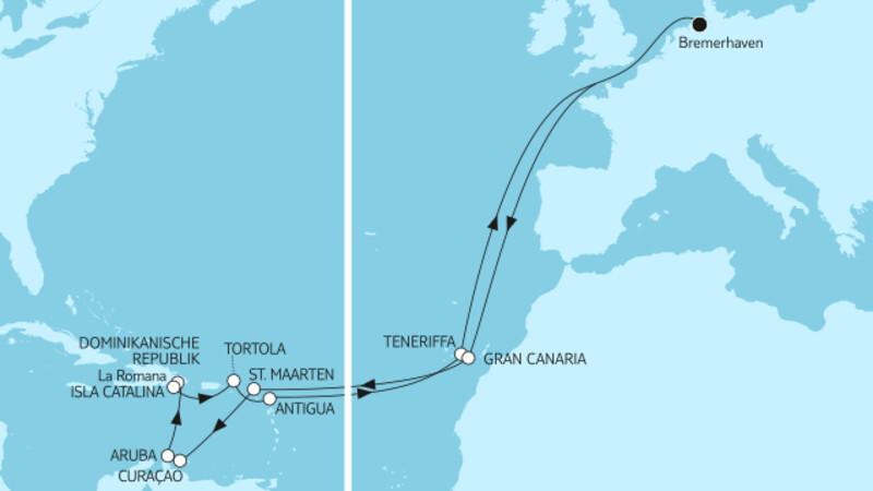 Mallorca bis Barbados
