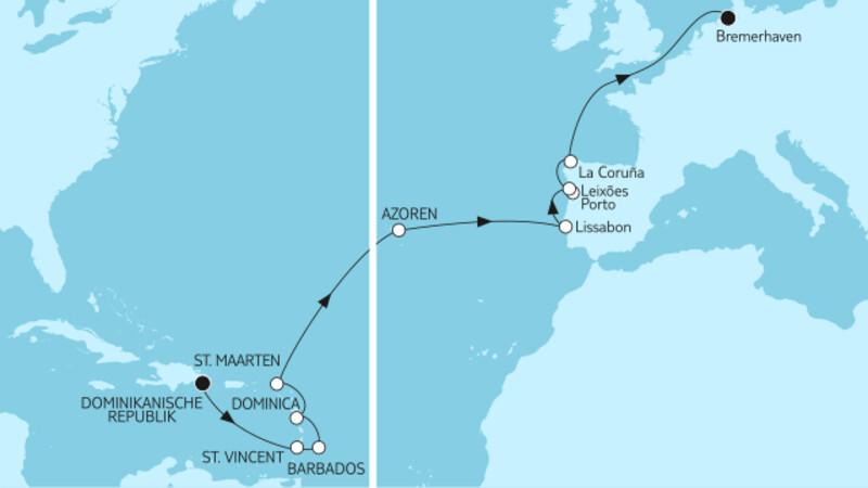 Dominikanische Republik bis Bremerhaven