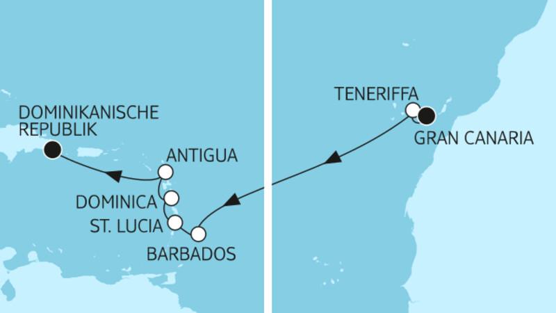 Gran Canaria bis Dominikanische Republik