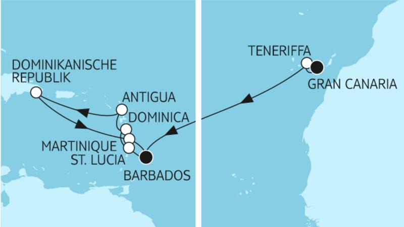Gran Canaria bis Barbados