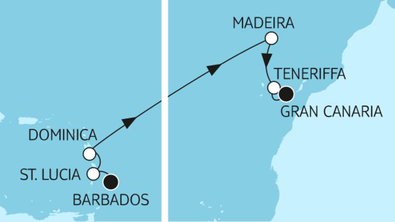 Barbados bis Gran Canaria