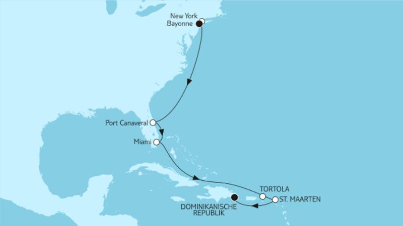 New York bis Dominikanische Republik