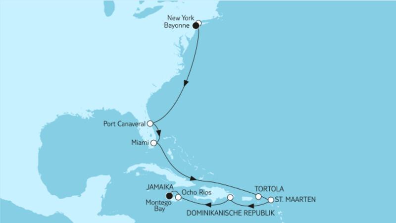 New York bis Jamaika