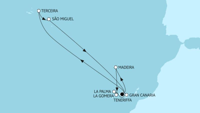 Kanaren mit Azoren & Madeira I
