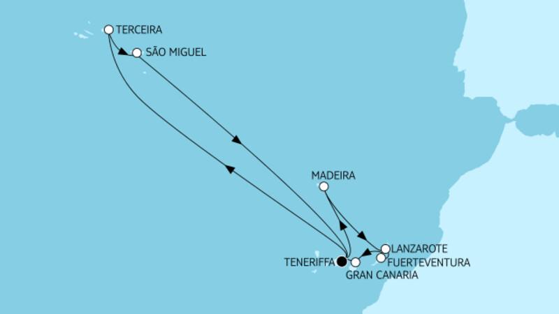 Kanaren mit Azoren & Madeira II