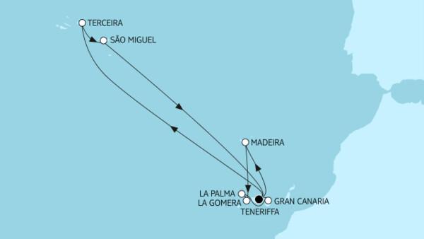 Kanaren mit Madeira I & Azoren