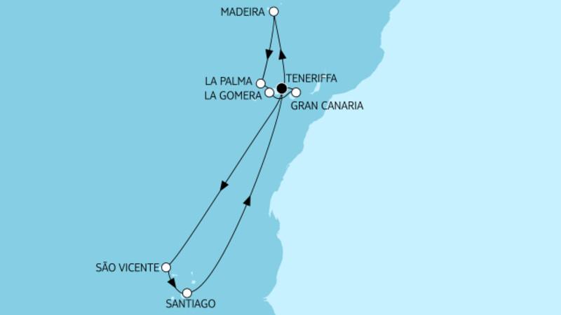 Kanaren mit Madeira I & Kapverden