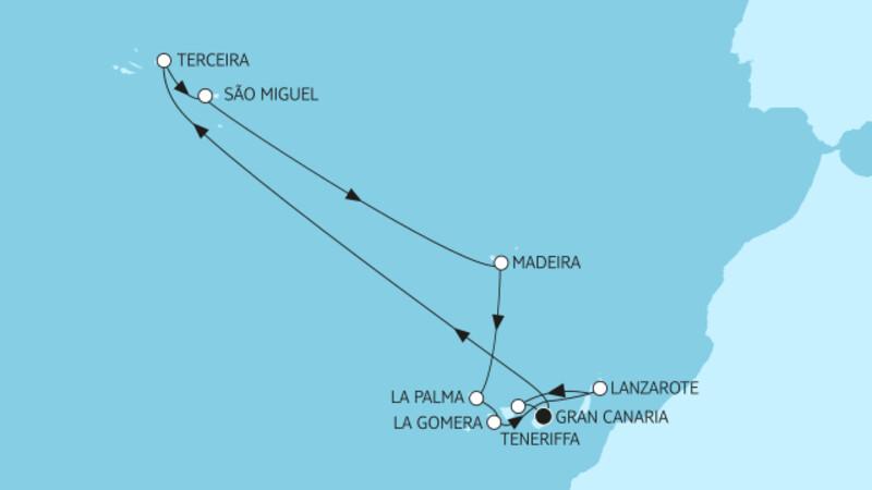 Kanaren mit Azoren