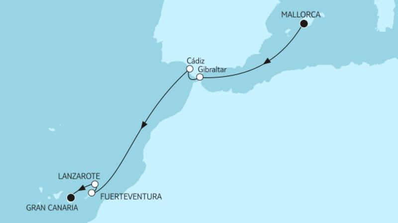 Mallorca bis Gran Canaria
