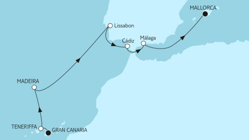 Gran Canaria bis Mallorca