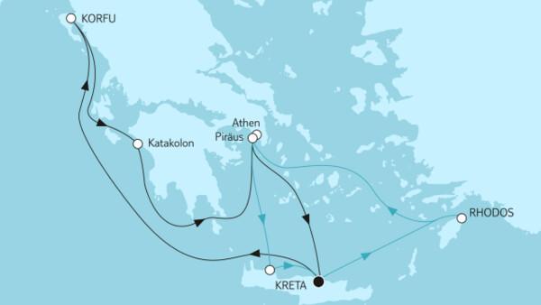Blaue Reisen - Griechische Inseln Kombireise