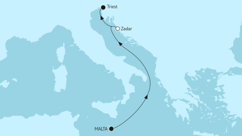 Westliches Mittelmeer mit Dubrovnik