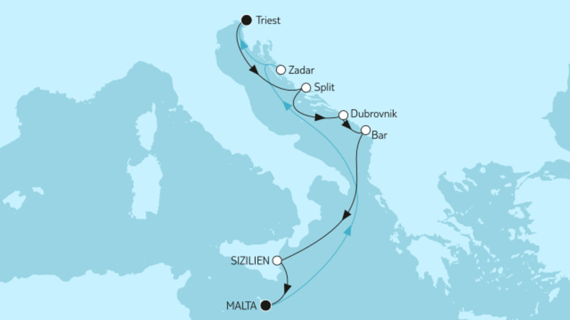 Westliches Mittelmeer mit Dubrovnik Kombireise