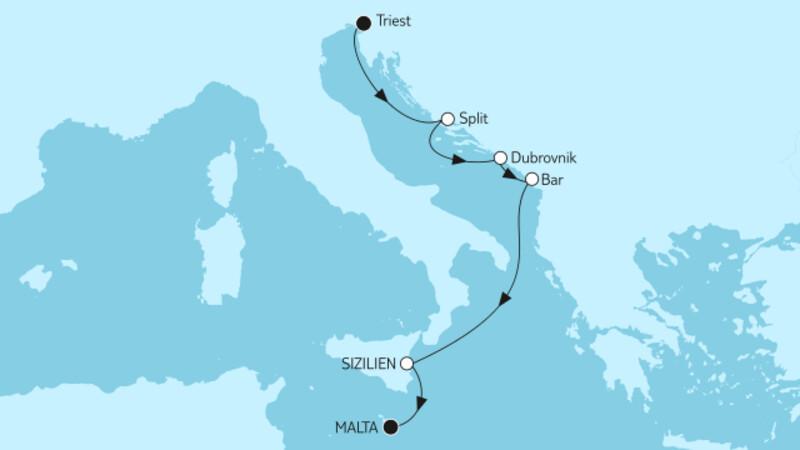 Adria mit Sizilien