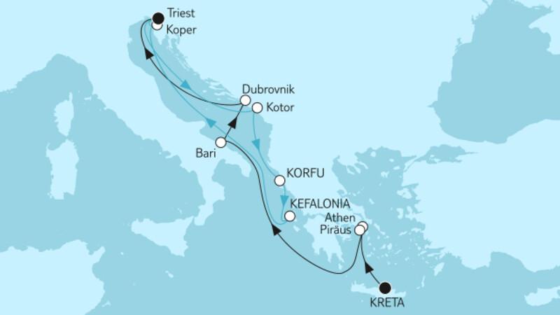 Griechenland mit Dubrovnik & Adria mit Korfu