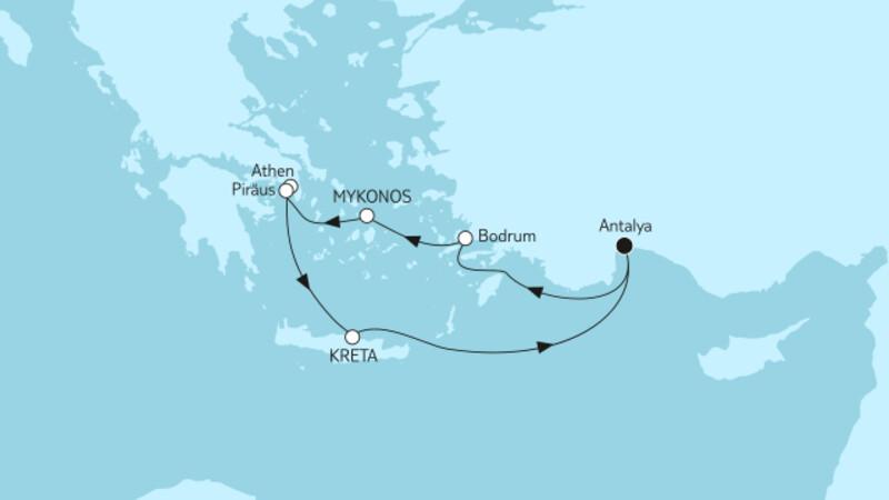 Östliches Mittelmeer mit Kreta