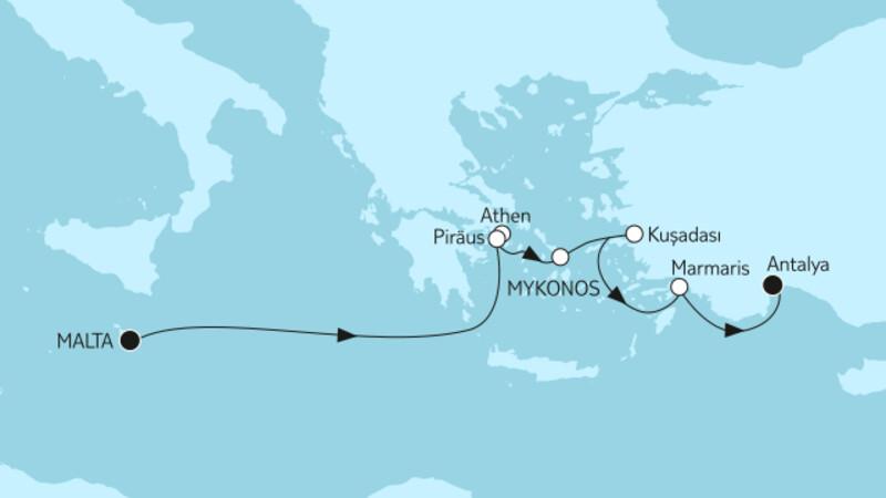 Östliches Mittelmeer mit Griechenland