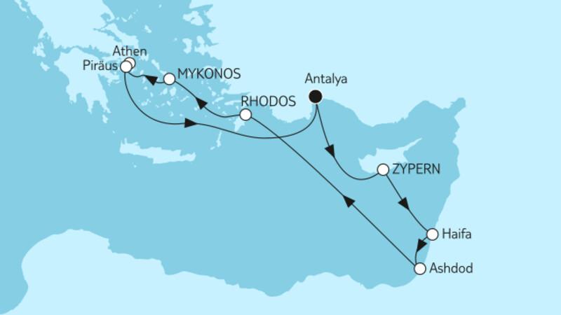 Östliches Mittelmeer mit Zypern