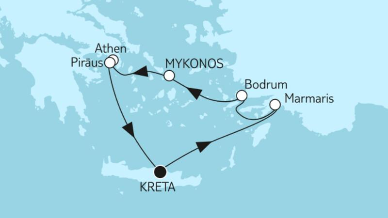 Östliches Mittelmeer ab Kreta II