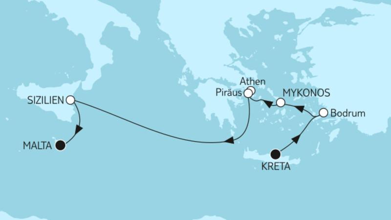 Kreta bis Malta