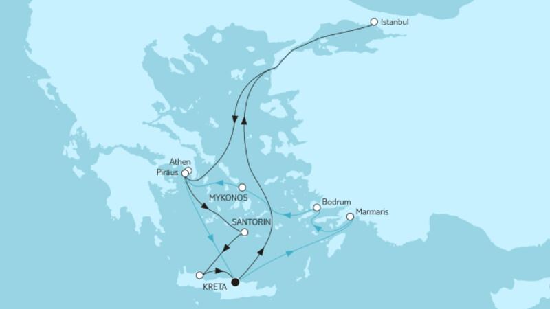Östliches Mittelmeer ab Kreta I & II