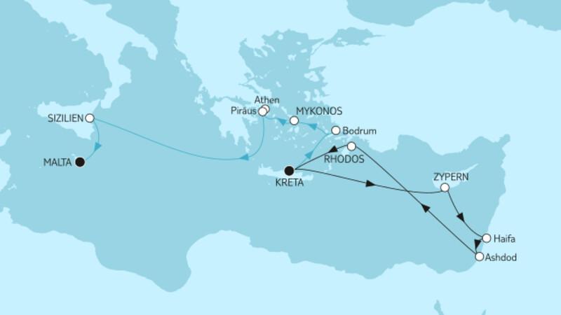 Griechenland mit Zypern & Kreta bis Malta