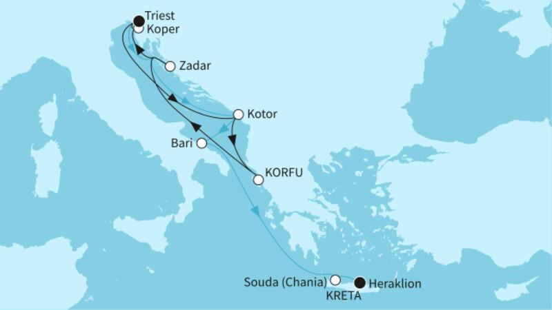 Westliches Mittelmeer mit Griechenland 1