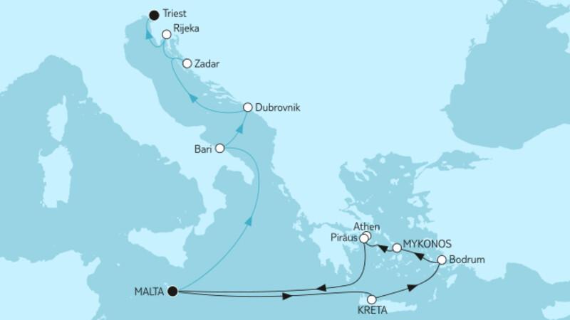 Griechenland ab Malta & Adria mit Dubrovnik