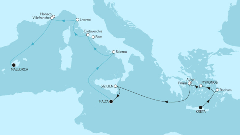 Kreta mit Malta & Mallorca