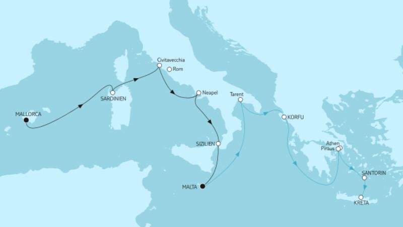 Mallorca bis Malta II & Kreta