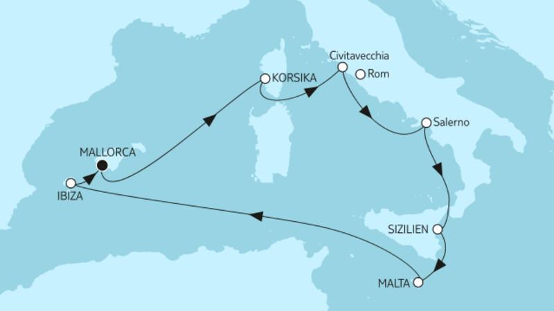 Mittelmeer mit Salerno