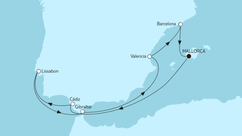 Mittelmeer mit Cádiz