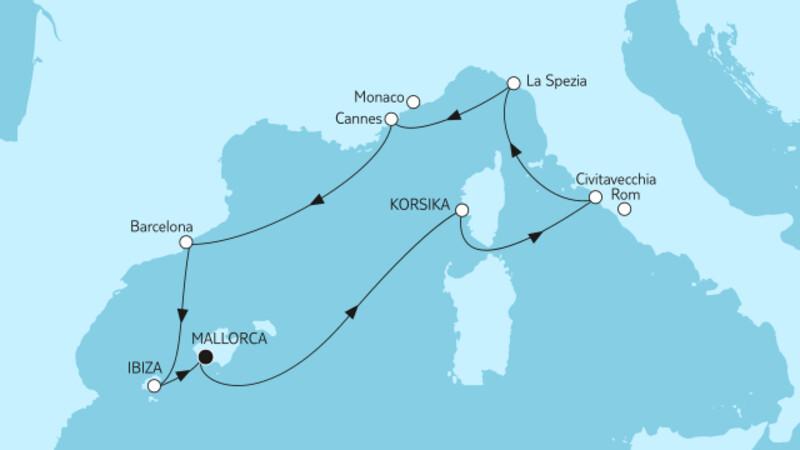 Mittelmeer mit Barcelona