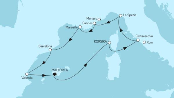 Mittelmeer mit Barcelona II