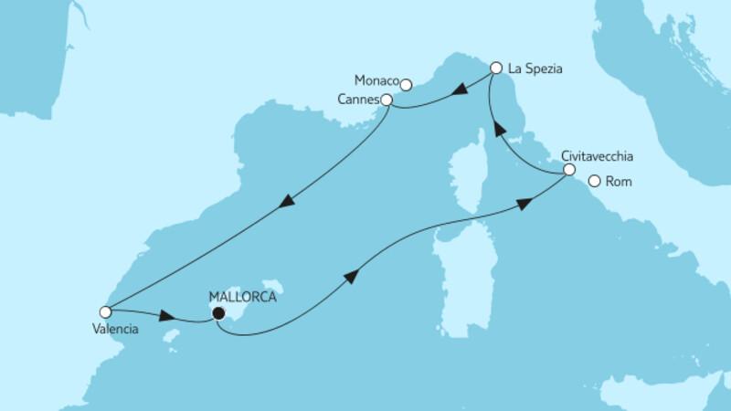 Mittelmeer mit Valencia
