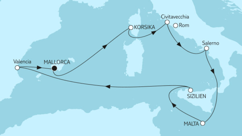 Mittelmeer mit Sizilien