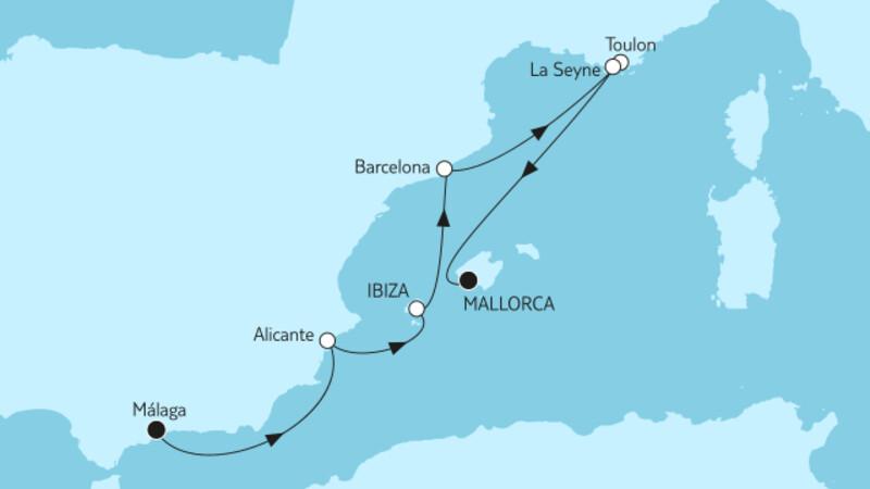 Málaga bis Mallorca