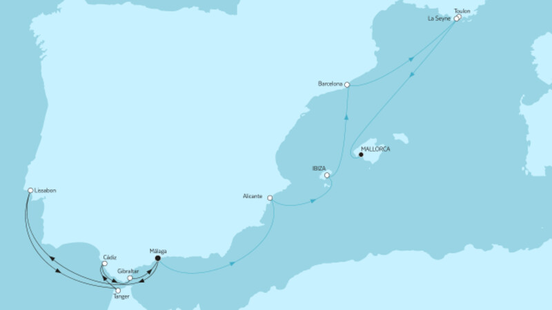 Mittelmeer mit Andalusien I & Málaga bis Mallorca