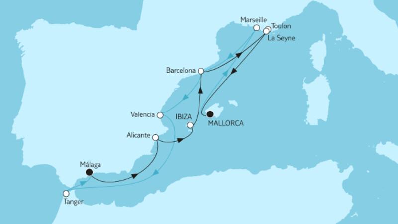 Málaga bis Mallorca & Mallorca bis Málaga II