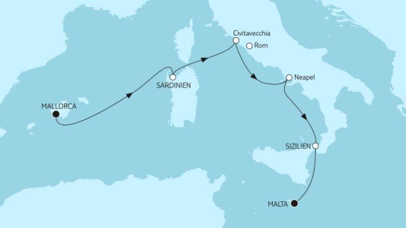 Mallorca bis Malta