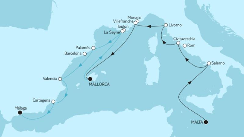 Malta bis Málaga