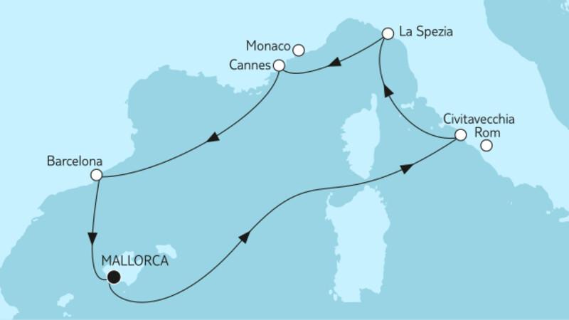 Mittelmeer mit Barcelona I