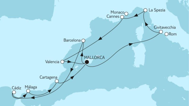Mittelmeer mit Andalusien & Valencia III