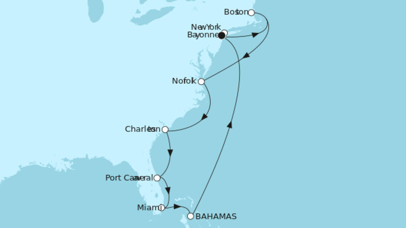 New York mit Bahamas